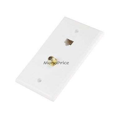 Monoprice® Cat5e/F-Type Wall Plate