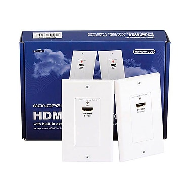 Monoprice® HDMI Over Cat5eE/Cat6 Extender Wall Plate