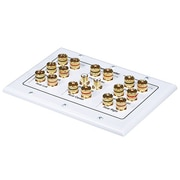 Monoprice® 104013 3-Gang 8.2 Surround Sound Distribution Wall Plate, White