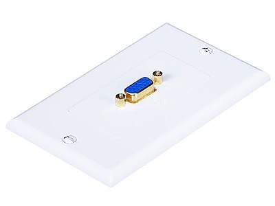 Monoprice 104568 1 Port Gold Plated VGA Wall Plate White