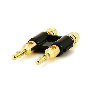Monoprice® Dual High-Quality Gold Plated Speaker Banana Plug, Black