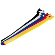 "Monoprice® 9"" Hook & Loop Fastening Cable Tie, Assorted, 50/Pack"