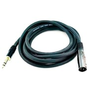 "Monoprice® Premier Series 10' 16AWG XLR Male to 1/4"" TRS Male Audio Cable, Black"