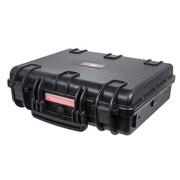 "Monoprice® 18.86"" x 16.34"" x 5.91"" Weatherproof Polypropylene Case With Customizable Foam, Black"