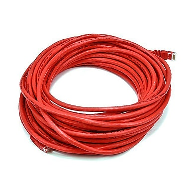 Monoprice® 50' 24AWG Cat5e UTP Ethernet Network Cable, Red