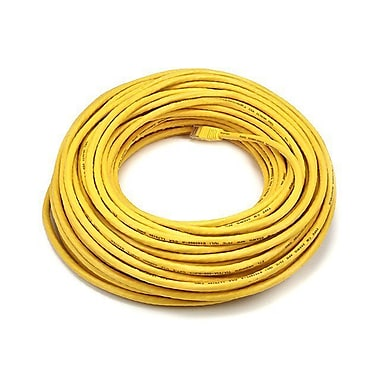 Monoprice® 100' 24AWG Cat5e UTP LC Male to Male Ethernet Network Cable, Yellow