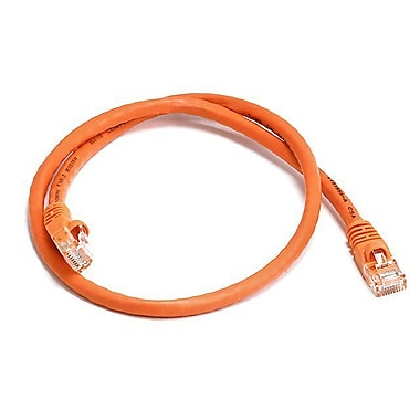 Monoprice® 2' 24AWG Cat5e UTP Ethernet Network Cable, Orange