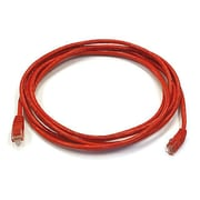 Monoprice® 10' 24AWG Cat5e UTP Ethernet Network Cable, Red