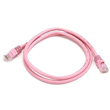 Monoprice® 3' 24AWG Cat5e UTP Ethernet Network Cable, Pink