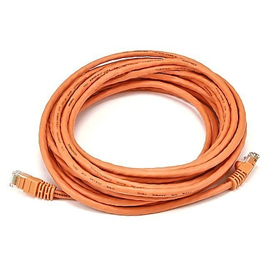 Monoprice® 20' 24AWG Cat5e UTP Ethernet Network Cable, Orange