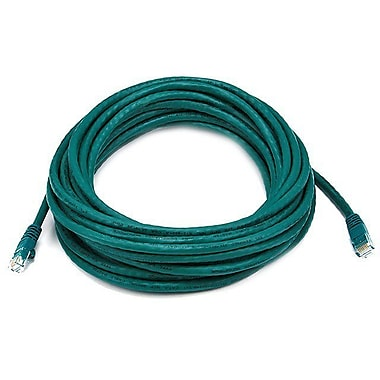 Monoprice® 30' 24AWG Cat5e UTP Ethernet Network Cable, Green