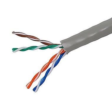Monoprice® 1000' 24AWG Cat5e UTP Solid Bulk Ethernet Cable, Gray