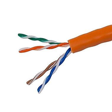 Monoprice® 1000' 24AWG Cat5e UTP Solid Bulk Ethernet Cable, Orange
