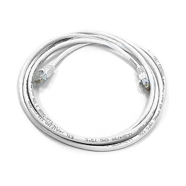 Monoprice® 7' 24AWG Cat6 UTP Ethernet Network Cable, White