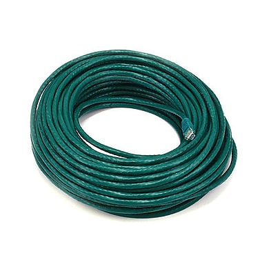 Monoprice 102330 100' 24-AWG CAT-6 UTP Ethernet Network Cable, Green
