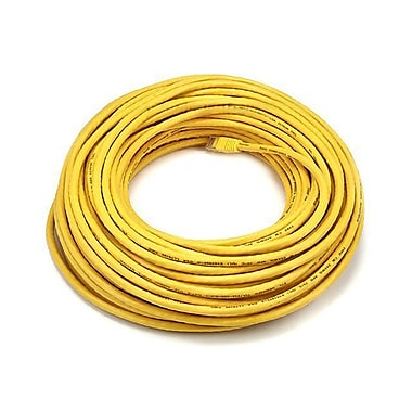 Monoprice 102332 100' 24-AWG CAT-6 UTP Ethernet Network Cable, Yellow