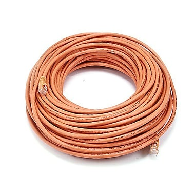 Monoprice® 100' 24AWG Cat6 UTP Ethernet Network Cable, Orange