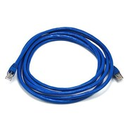 Monoprice® 10' 24AWG Cat6a STP Ethernet Network Cable, Blue