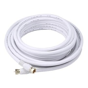 Monoprice® 25' CL2 Quad Shielded RG6 F Type 18AWG Coaxial Cable, White