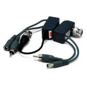 Monoprice® 106879 1 Channel Passive CCTV Balun, Video/Audio/Power Over Cat5