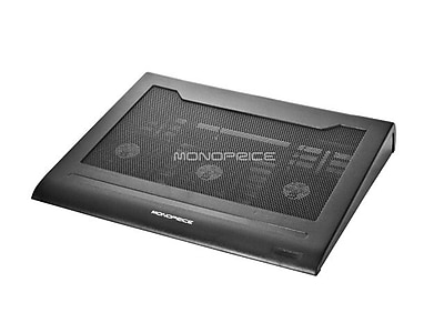 Monoprice Laptop Cooling Stand With Removable 70mm Fan, Black
