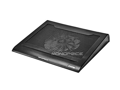 Monoprice Laptop Cooling Stand With Built-In 160mm Fan, Black