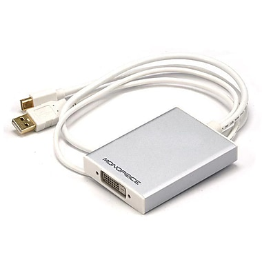 Monoprice® Mini DisplayPort + USB to Dual-Link DVI Adapter, White