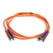 Monoprice® 2 m OM1 ST to ST Fiber Optic Cable, Orange