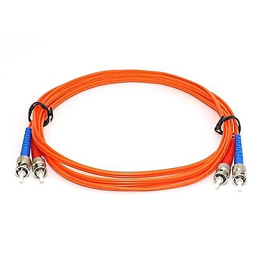 Monoprice® 30 m OM1 ST to ST Fiber Optic Cable, Orange
