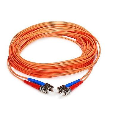 Monoprice® 10 m OM1 ST to ST Fiber Optic Cable, Orange
