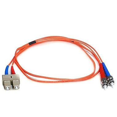 Monoprice® 1 m OM1 ST to SC Fiber Optic Cable, Orange