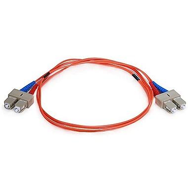 Monoprice® 1 m OM1 SC to SC Fiber Optic Cable, Orange