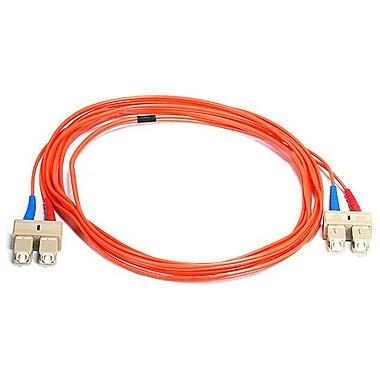 Monoprice® 2 m OM1 SC to SC Fiber Optic Cable, Orange