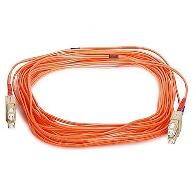 Monoprice® 10 m OM1 SC to SC Fiber Optic Cable, Orange