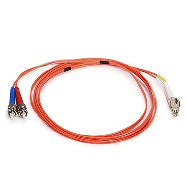 Monoprice® 2 m OM1 LC to ST Fiber Optic Cable, Orange