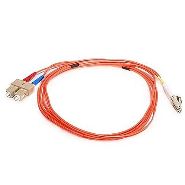 Monoprice® 2 m OM1 LC to SC Fiber Optic Cable, Orange