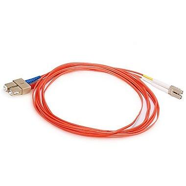 Monoprice® 30 m OM1 LC to SC Fiber Optic Cable, Orange