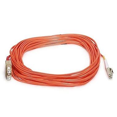 Monoprice® 10 m OM1 LC to SC Fiber Optic Cable, Orange