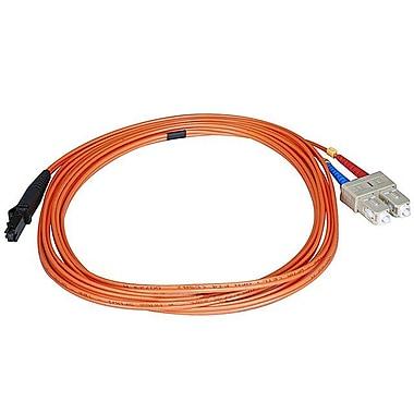 Monoprice® 1 m OM1 MTRJ Female to SC Fiber Optic Cable, Orange