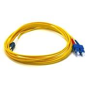 Monoprice® 5 m LC to SC Single Mode Duplex Fiber Optic Cable, Yellow