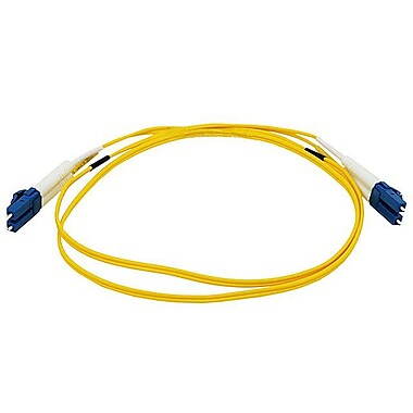 Monoprice® 1 m LC to LC Single Mode Duplex Fiber Optic Cable, Yellow