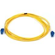 Monoprice® 30 m LC to LC Single Mode Duplex Fiber Optic Cable, Yellow