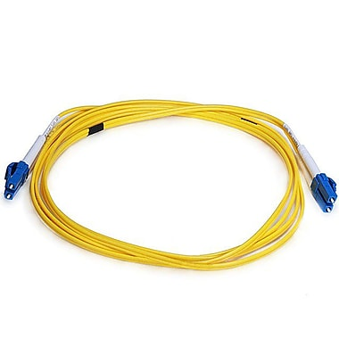 Monoprice® 2 m LC to LC Single Mode Duplex Fiber Optic Cable, Yellow