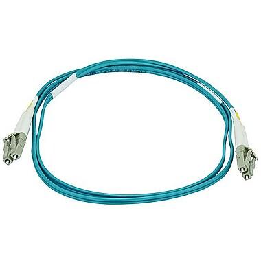 Monoprice® 1 m OM3 LC to LC Fiber Optic Cable, Aqua
