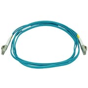 Monoprice® 2 m OM3 LC to LC Fiber Optic Cable, Aqua