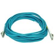 Monoprice® 10 m OM3 LC to LC Fiber Optic Cable, Aqua