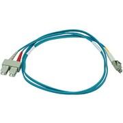 Monoprice® 1 m OM3 LC to SC Fiber Optic Cable, Aqua