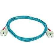 Monoprice® 30 m OM3 SC to SC Fiber Optic Cable, Aqua