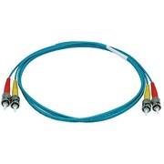 Monoprice® 1 m OM3 ST to ST Fiber Optic Cable, Aqua