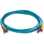 Monoprice® 30 m OM3 ST to ST Fiber Optic Cable, Aqua